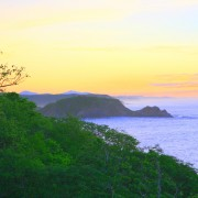 Sunrise over the coast in Huatulco, Oaxaca, Mexico